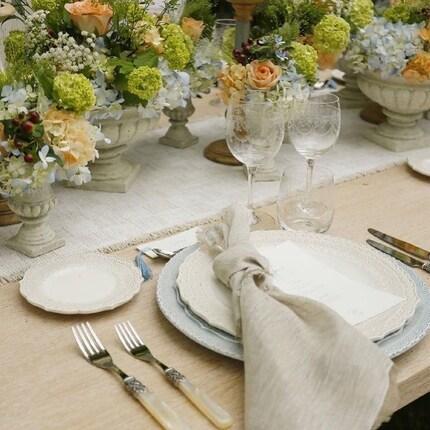• @melaniaparenteeventi Lo stile di un evento riaffiora anche dall'armonia degli elementi utilizzati.  Runner e tovaglioli creati ad hoc per l'evento, mise en place scelta minuziosamente, tavolo progettato e realizzato seguendo il concept e allestimento floreale impeccabile .  #intimewedding #myproject #weddingdesign #weddingluxury #naturalchic #miseenplace #weddinginitaly #melaniaparenteeventi   Wedding idea: @melaniaparenteeventi   Thanks to: @geg_party_service  @irisflowersdesigner  @tipoarte2001  @scrfilms